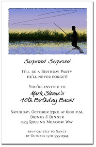 Fly Fishing Party Invitations from TheInvitationShop.com