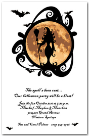 Full Moon Witching Hour Halloween Invitations from TheInvitationShop.com