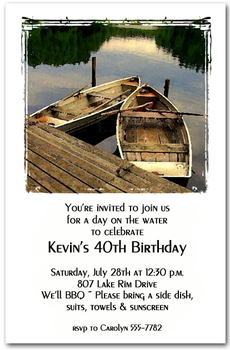 Rowboats on the Lake Party Invitations from TheInvitationShop.com