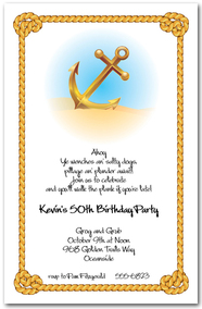 Anchor & Rope Nautical Invitations from TheInvitationShop.com