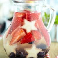 Red, White & Blue Sangria for 4th of July or Memorial Day | TheInvitationShop.com