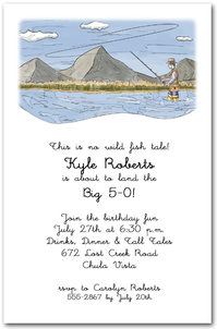 Mountain Stream Fisherman Party Invitations from TheInvitationShop.com