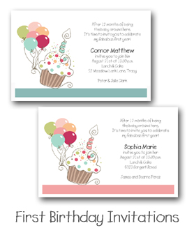 First Birthday Party Invitations from TheInvitationShop.com