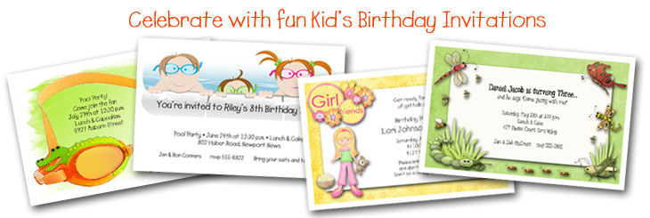Kids Birthday Party Invitations from TheInvitationShop.com