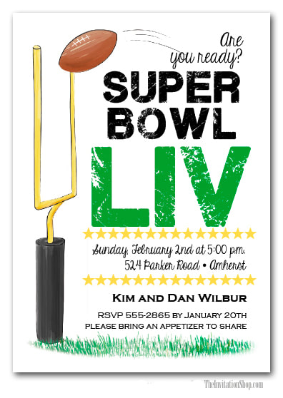 It's Game Time Super Bowl Invitations